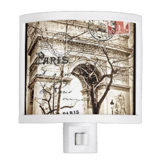 Arc de Triomphe Sepia Vintage Postcard Nightlight