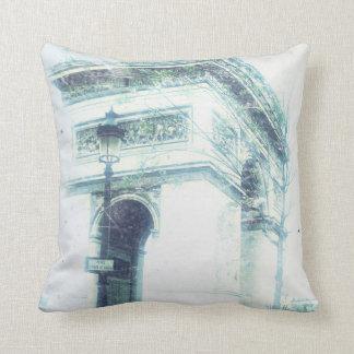 Arc de Triomphe Throw Pillow, Vintage Look Throw Pillow
