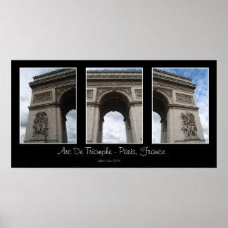 Arc de Triomphe Triptych Print