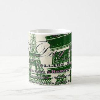 arc de triomphe vintage paris eiffel tower coffee mug