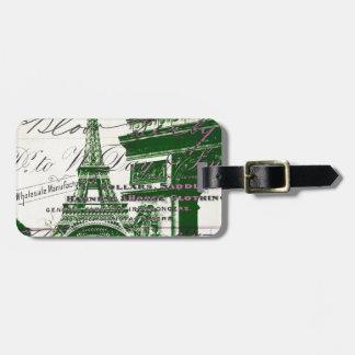 arc de triomphe vintage paris eiffel tower bag tags