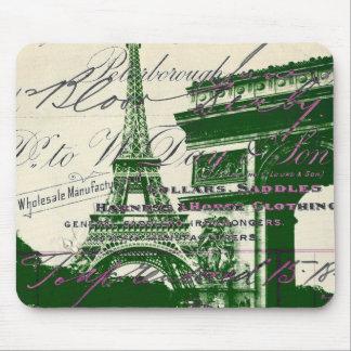 arc de triomphe vintage paris eiffel tower mouse pad