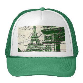 arc de triomphe vintage paris eiffel tower trucker hat