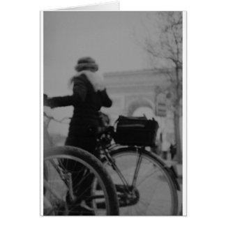 Arc de Triophe Paris Champs Elysées Back LCA analo Card