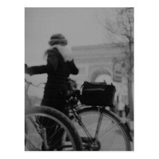 Arc de Triophe Paris Champs Elysées Back LCA analo Postcard