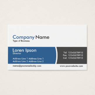Arc Divided Band Blue and Dark Gray Business Card