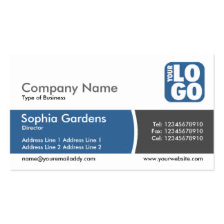 Arc Divided Band - Desert Blue- Logo Double-Sided Standard Business Cards (Pack Of 100)