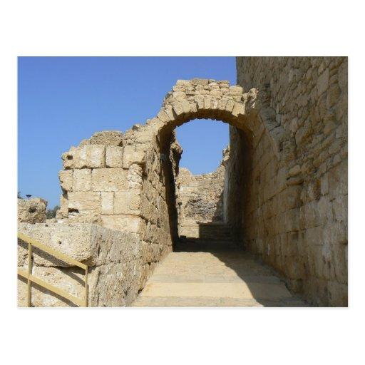 Arc in ancient Caesarea Postcard