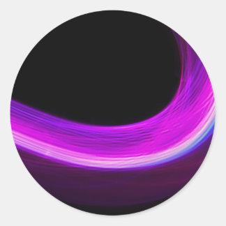 arc of purple light classic round sticker