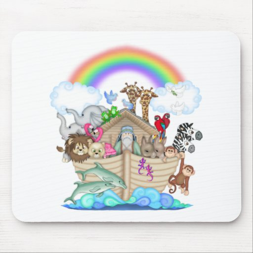 Arca de Noahs Alfombrillas De Ratones