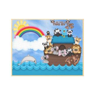 Arca de Noahs de los animales dos por la gran Impresiones De Lienzo