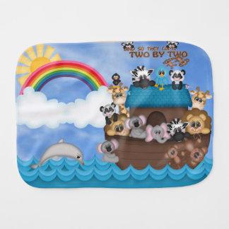 Arca de Noahs de los animales dos por la gran Paños De Bebé