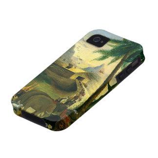 Arca de Noahs Hidley arte religioso del Victoria iPhone 4 Funda