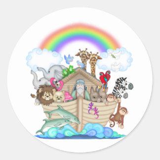 Arca de Noahs Pegatina Redonda