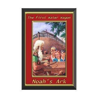 Arca del ` s de Noah que construye el capítulo del Impresión En Lienzo Estirada