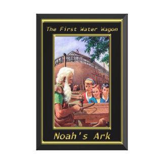 Arca del ` s de Noah que construye la génesis 6 de Lienzo Envuelto Para Galerías