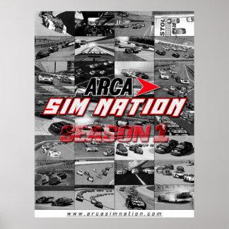 Arca Sim Nation Season 1 Collage Poster