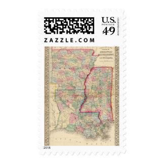 Arca, Srta., mapa del La de Mitchell Franqueo
