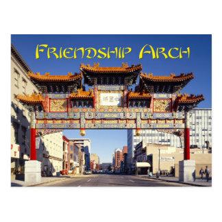 Arcada de la amistad de Chinatown en Washington C Tarjetas Postales