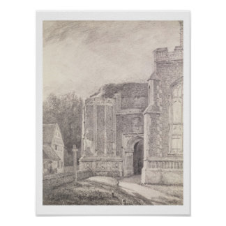 Arcada del sur de la torre arruinada de Bergholt d Poster