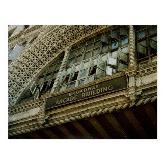 Arcada Edificio-Los Ángeles de Broadway Tarjeta Postal