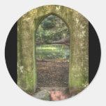 Arcada gótica etiquetas redondas