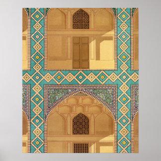 Arcadas del patio en el Medrese-yo-Shah-Hussein Impresiones