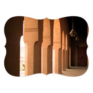 Arcadas en Marruecos Invitación 12,7 X 17,8 Cm