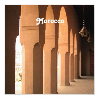 Arcadas en Marruecos Invitación 13,3 Cm X 13,3cm