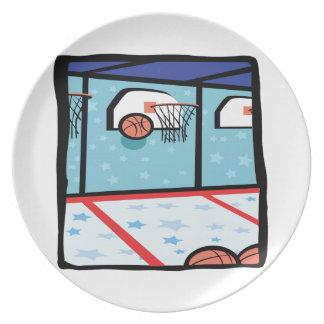 Arcade Basketball Dinner Plate
