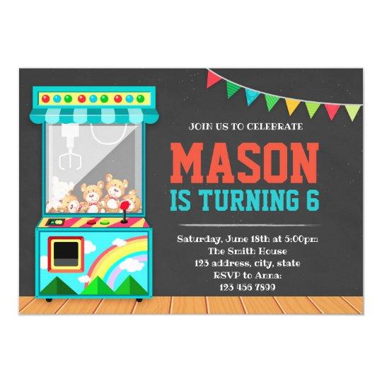 Arcade Birthday Party Invitation Zazzle Com