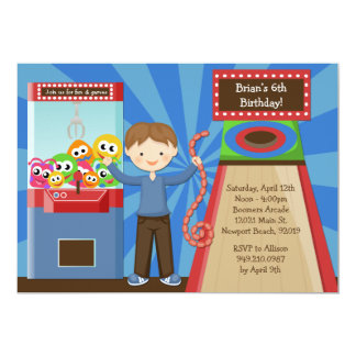 Arcade Birthday Party Invitation