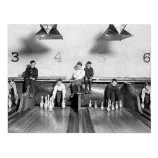 Arcade Bowling Alley, 1909 Postcard