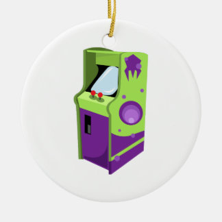 Arcade Game Double-Sided Ceramic Round Christmas Ornament