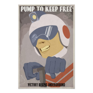 Arcade game propaganda poster- fourth in a series poster
