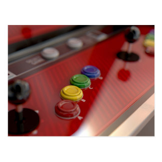 Arcade Machine Control Panel Postcard