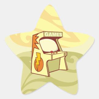 Arcade machine star sticker