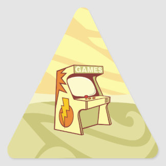 Arcade machine triangle sticker