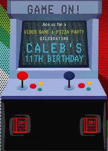 Video game invitations zazzle arcade video game birthday party invitation filmwisefo