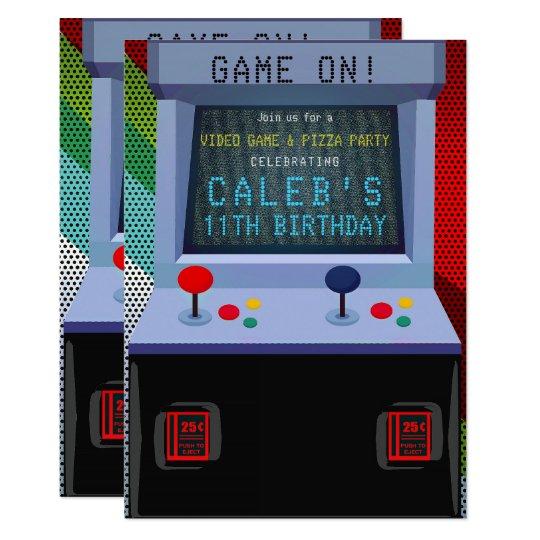 Arcade Video Game Birthday Party Invitation Zazzle Com