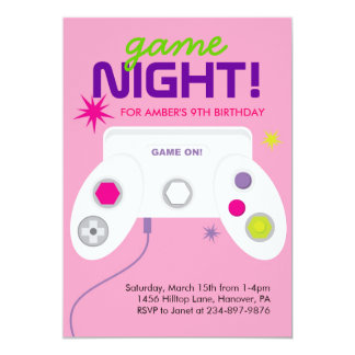 Arcade Video Game Birthday Party Invites