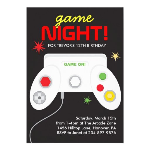 Personalized Arcade game Invitations – Arcade Party Invitations