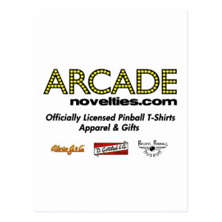 ArcadeNovelties.com Pinball Postcard