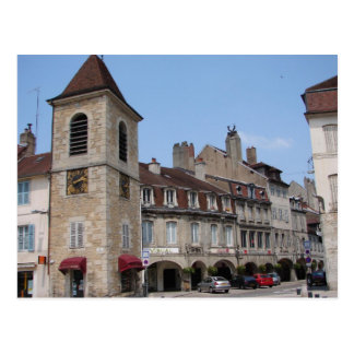 Arcades and Belfrey Lons le Saunier Postcard