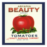 Arcadia Beauty Tomatoes, Vintage Fruit Crate Label Invitations