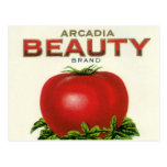 Arcadia Beauty Tomatoes, Vintage Fruit Crate Label Post Cards