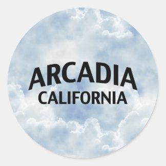 Arcadia California Classic Round Sticker