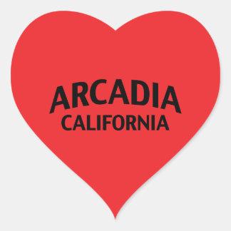 Arcadia California Heart Sticker
