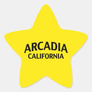 Arcadia California Star Sticker