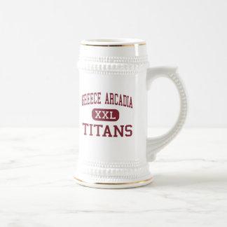 Arcadia de Grecia - titanes - alta - Rochester Jarra De Cerveza